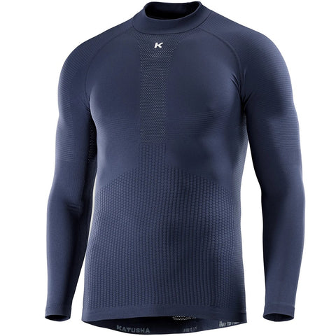SEAMLESS Base Layer LS - Peacoat Blue