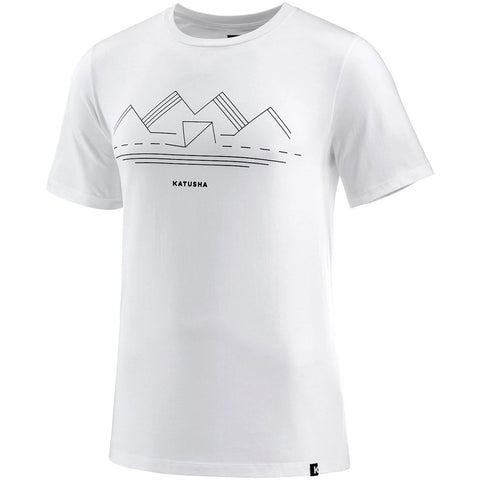 Katusha Cycling COTTON T-shirt Short Sleeve - White