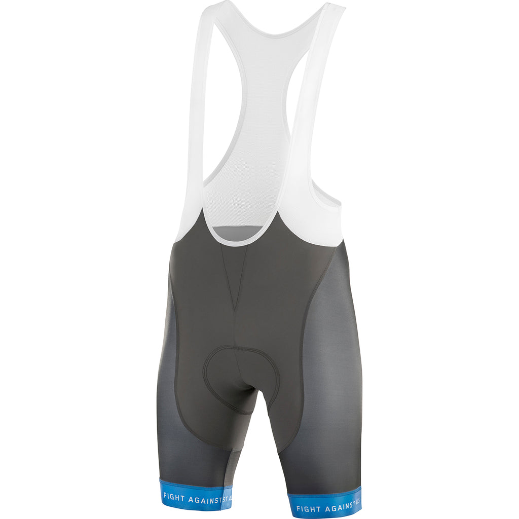 GREIPEL Fight ALS Bib Shorts - Asphalt / Blue