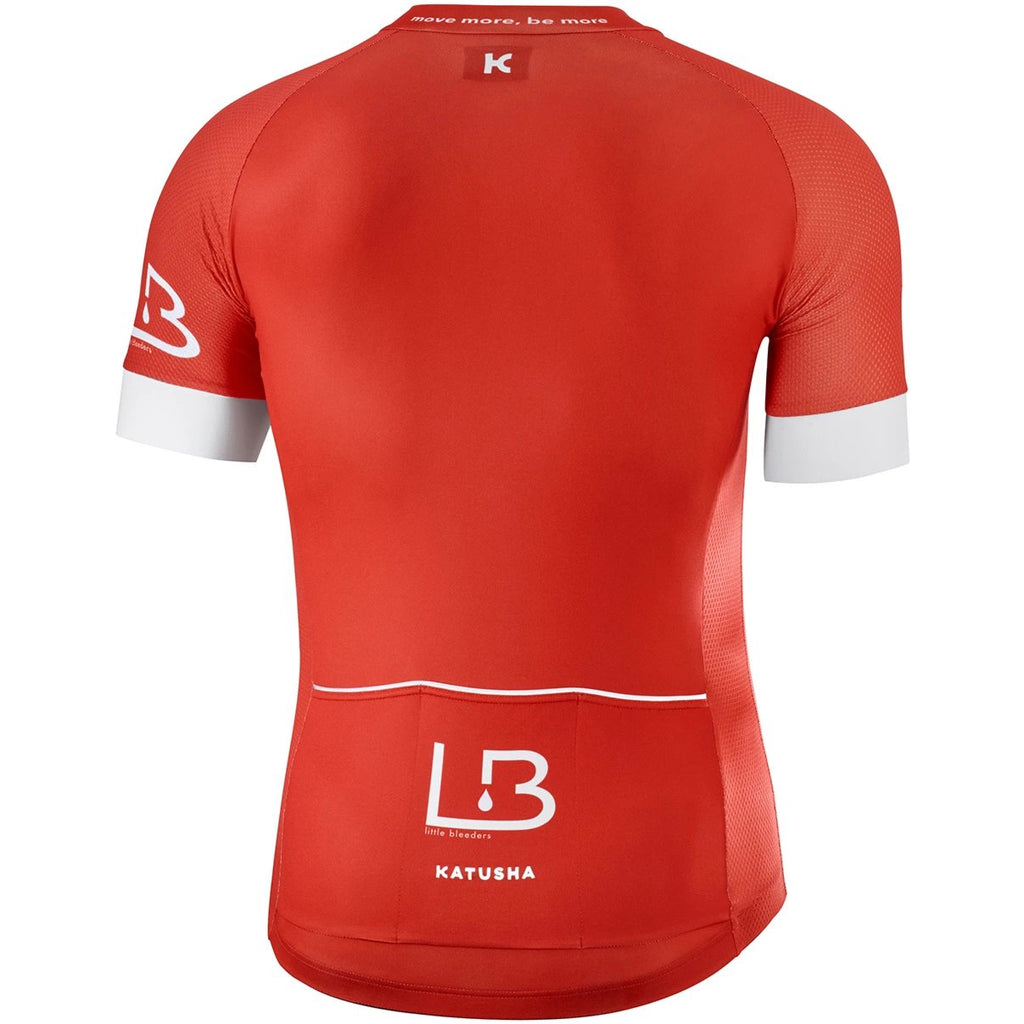 Katusha LITTLE BLEEDERS Short Sleeve Cycling Jersey - Red