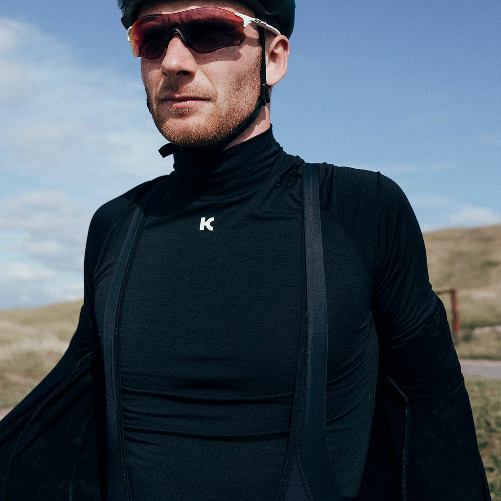 Katusha MERINO Cycling Base Layer Long Sleeve - Black