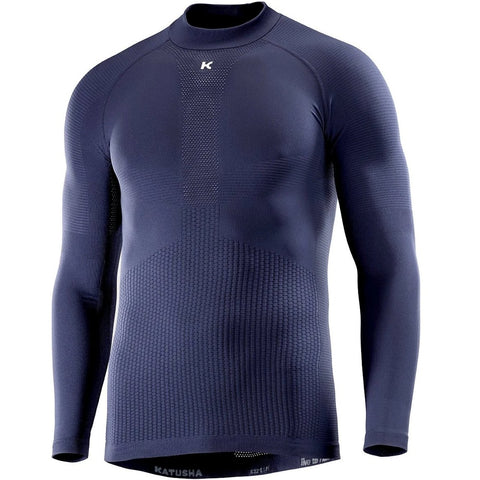 Katusha SEAMLESS Cycling Base Layer Long Sleeve - Peacoat