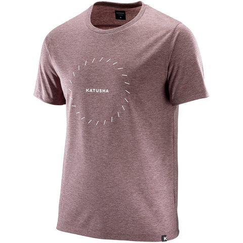 Katusha Cycling DRI RELEASE T-shirt Short Sleeve - Fired Brick