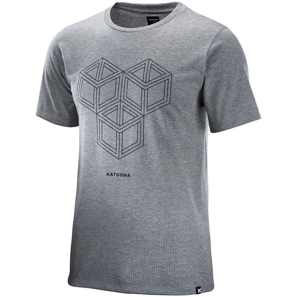 Katusha Cycling DRI RELEASE T-shirt Short Sleeve - UR Light Grey