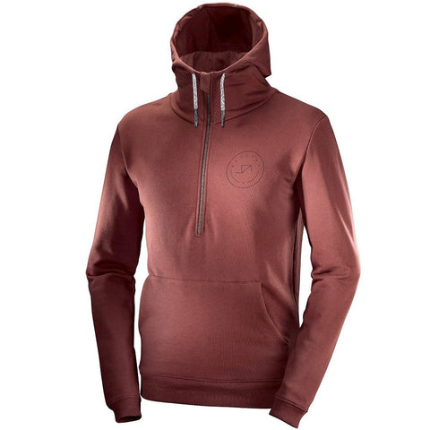 Katusha Cycling HALF ZIP Hoodie - Fired Brick