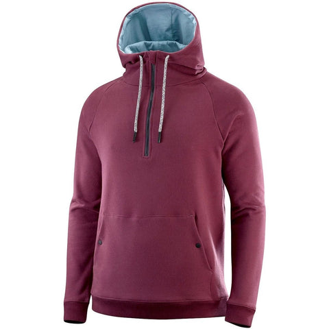 Katusha Cycling COMMUTER Half Zip Hoodie - Vineyard