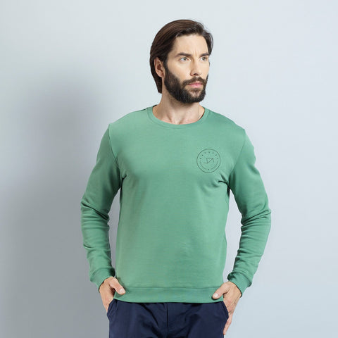 Katusha Cycling SWEATSHIRT - Duck green