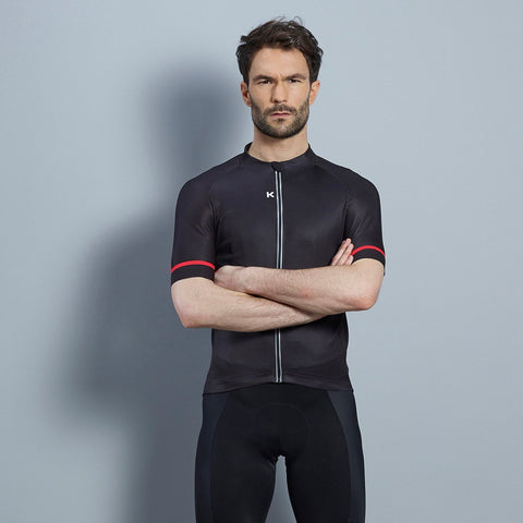 Katusha ICON Cycling Jersey Short Sleeve - Black Coral