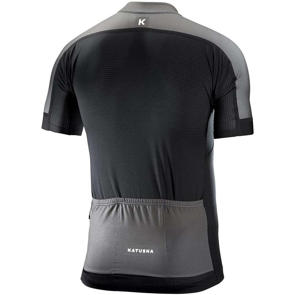 Katusha ICON Cycling Jersey Short Sleeve - Black Grey