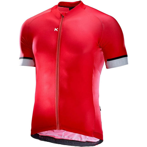 Katusha ICON Cycling Jersey Short Sleeve 2017 - Coral White