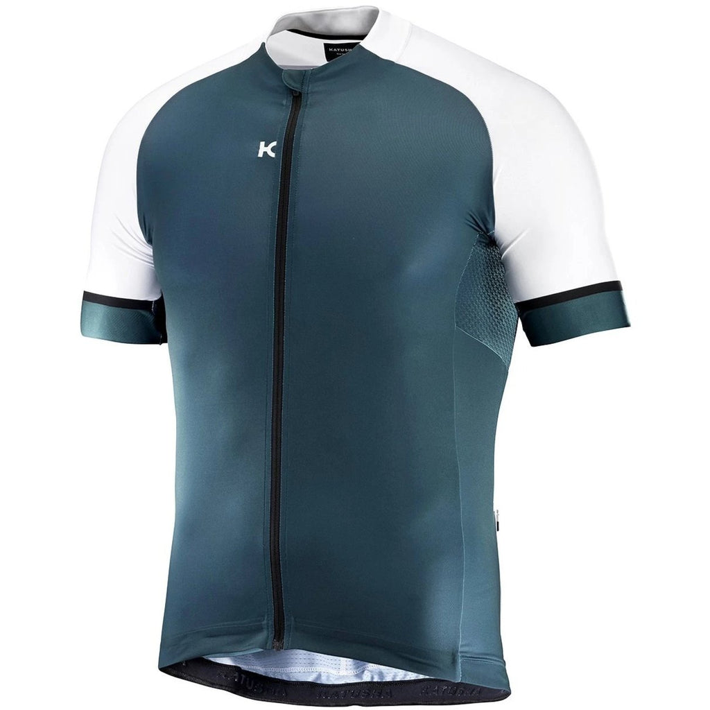 Katusha ICON Cycling Jersey Short Sleeve - Deep Teal White – KATUSHA Sports 98d796148