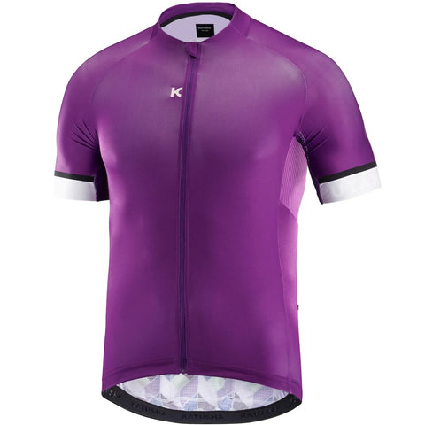 Katusha ICON Cycling Jersey Short Sleeve - Perspective Green Purple