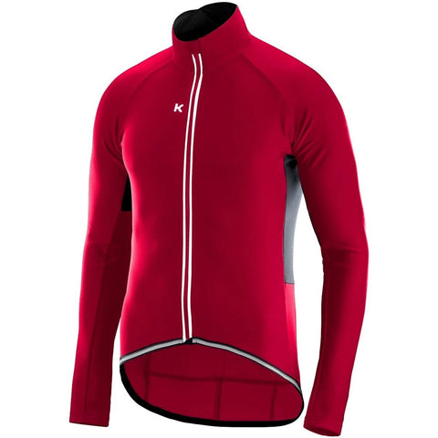 Katusha LIGHT SOFTSHELL Cycling Jacket Long Sleeve - Coral Black