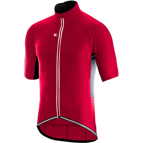 Katusha LIGHT SOFTSHELL Cycling Jacket Short Sleeve - Coral Black