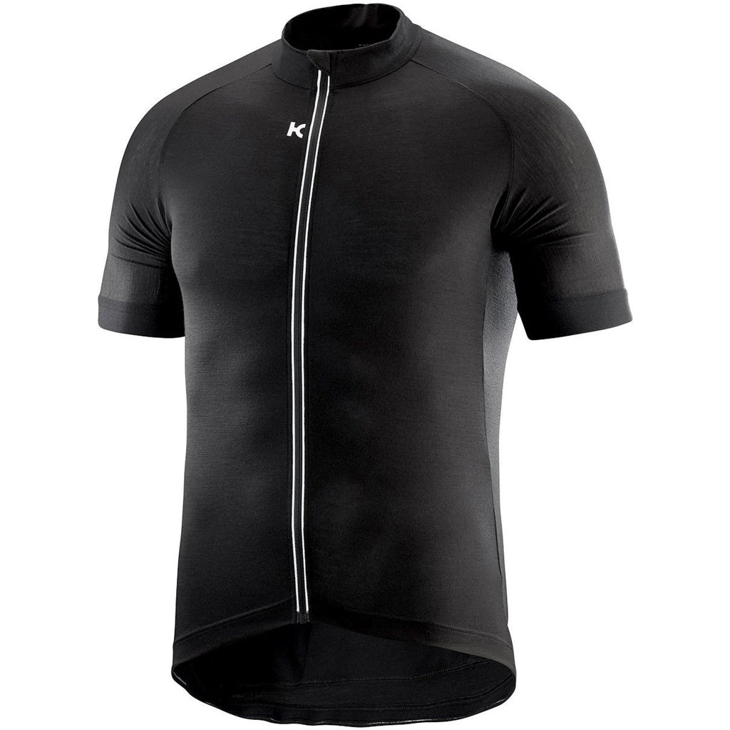 Katusha MERINO Cycling Jersey Short Sleeve - Black