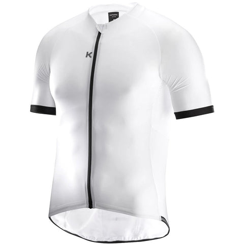 Katusha NANO Cycling Jersey Short Sleeve - White Black
