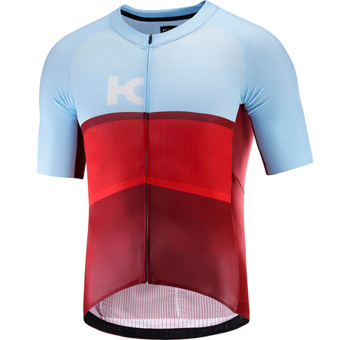KATUSHA Men's Aero Cycling Jersey - Sangre/Light Blue