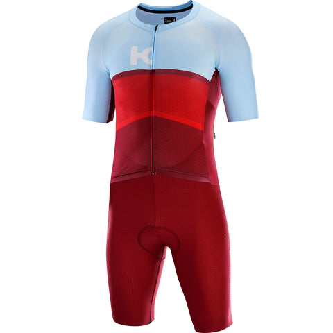 KATUSHA Men's Cycling Aero Suit - Sangre/Light Blue
