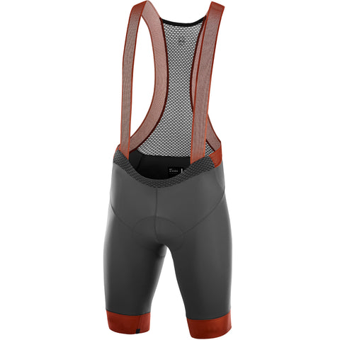 KATUSHA Men's Icon Cycling Bib Shorts - Asphalt/Arabian Spice