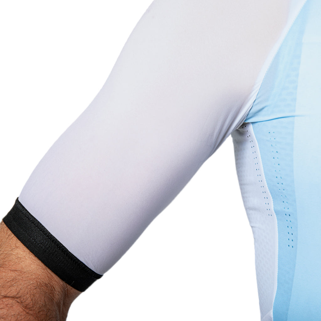 NANO Half Zip Jersey - White / Light Blue