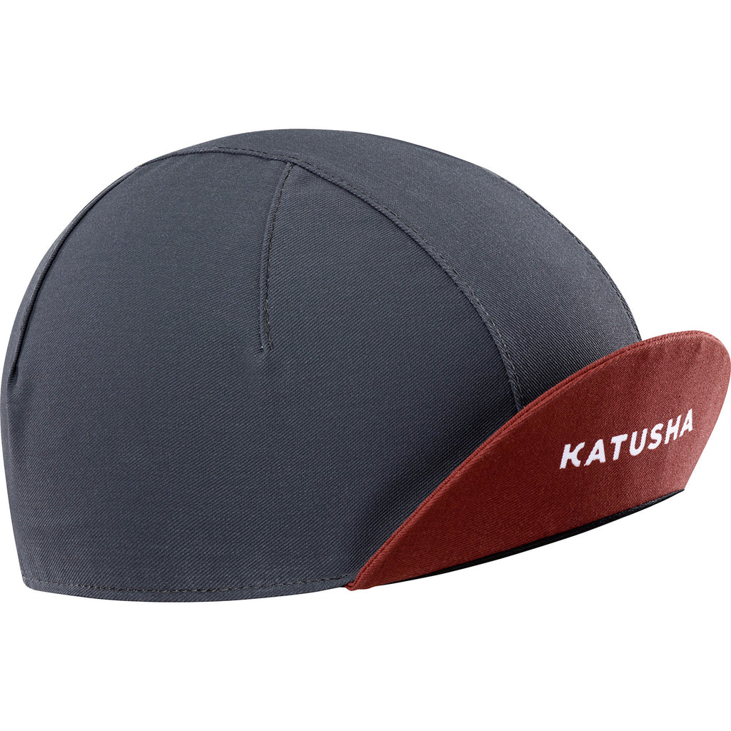 KATUSHA Men's RACE Cycling Cap - Asphalt / Arabian Spice
