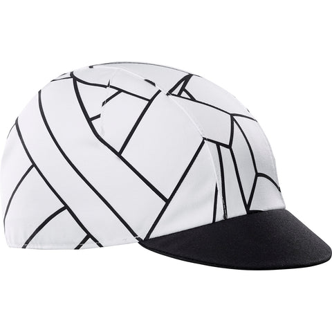 KATUSHA Men's RACE Cycling Cap - K Illusion 2 / White