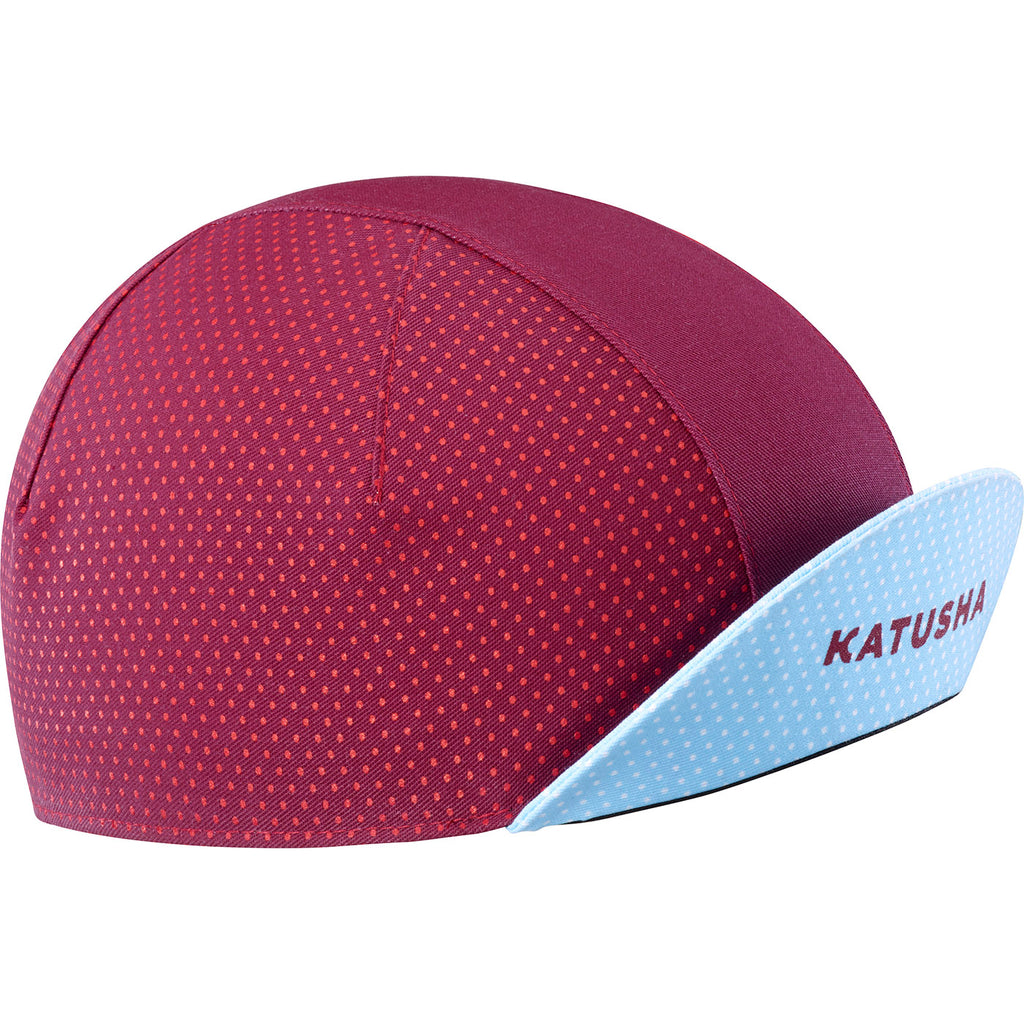 KATUSHA Men's RACE Cycling Cap - Sangre / Light Blue