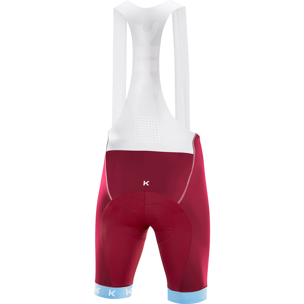 KATUSHA Men's SUPERLIGHT Cycling Bib Shorts - Sangre / Light Blue