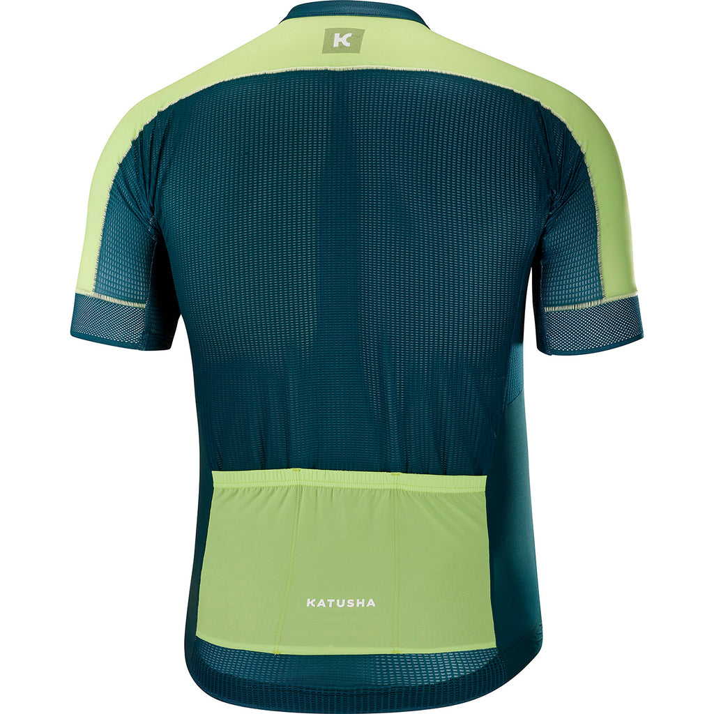 KATUSHA Men's SUPERLIGHT Cycling Jersey - Deep Teal / Sharp Green