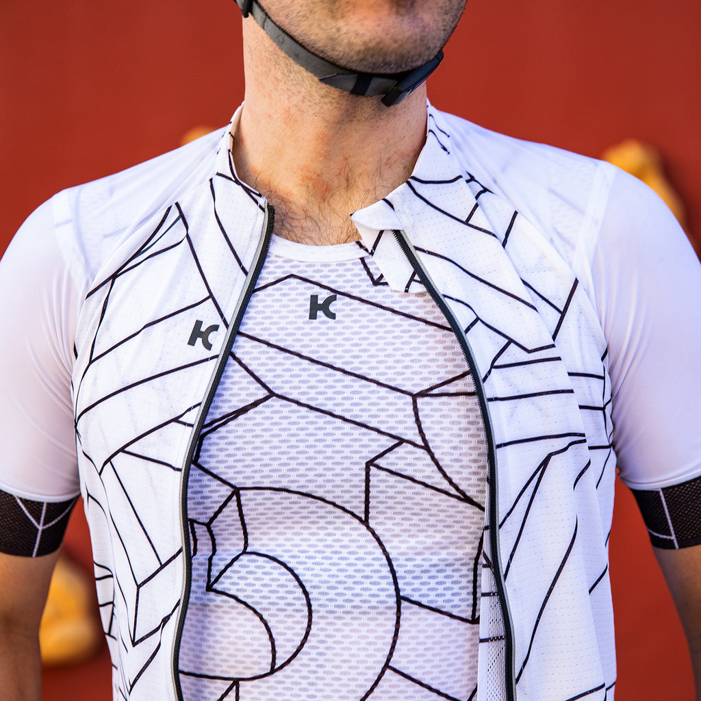 KATUSHA Men's SUPERLIGHT Cycling Base Layer - K Illusion 2/White