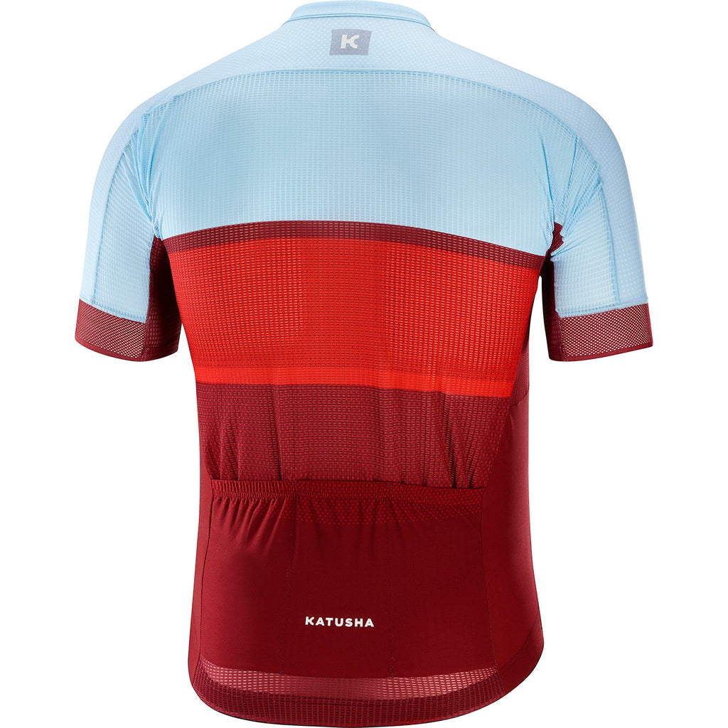 KATUSHA Men's SUPERLIGHT Cycling Jersey - Sangre / Light Blue