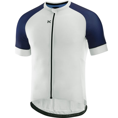 KATUSHA Men's SUPERLIGHT Cycling Jersey - White / Peacoat Blue