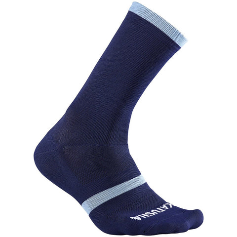 Katusha RACE Long Cycling Socks - Peacoat Blue Light Blu