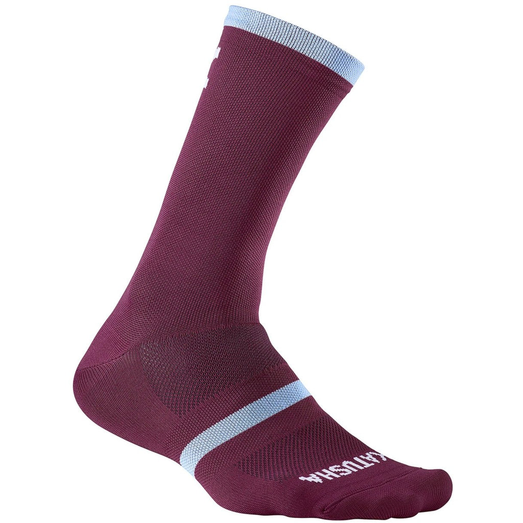 Katusha RACE Long Cycling Socks - Sangre Light Blue