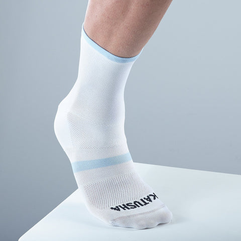 Katusha RACE Socks - White Blue