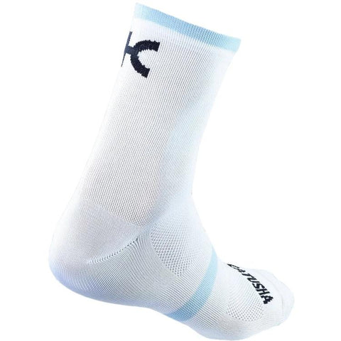 Katusha RACE Cycling Socks - White Blue