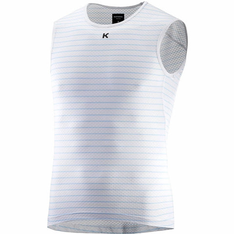 Katusha SUPERLIGHT Cycling Base Layer Sleeveless - White Blue Stripes