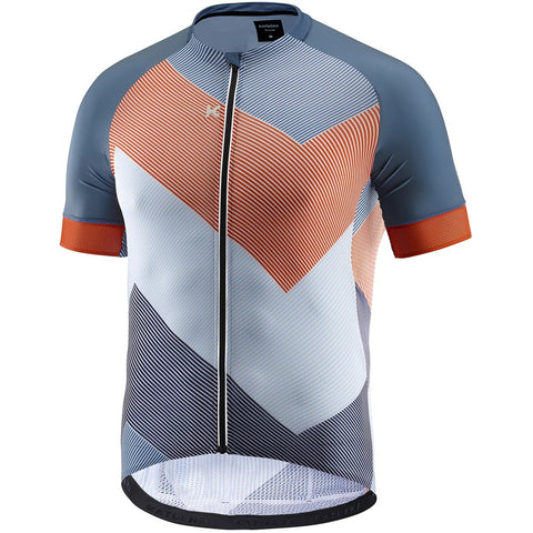Katusha SUPERLIGHT Cycling Jersey Short Sleeve - AOP 90 Degrees Orange