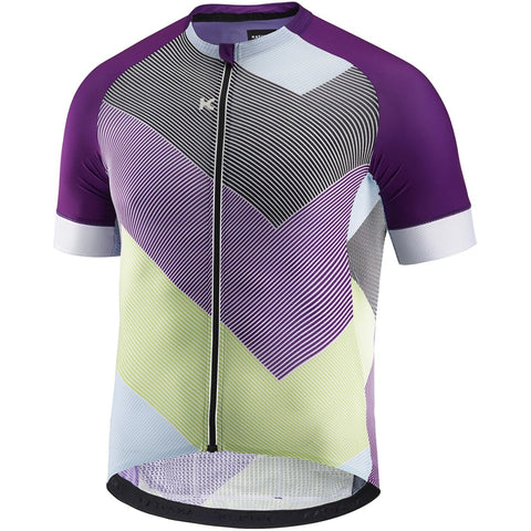 Katusha SUPERLIGHT Cycling Jersey Short Sleeve - AOP 90 Degrees Purple