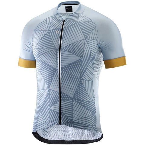 Katusha SUPERLIGHT Cycling Jersey Short Sleeve - AOP Shadow Gold