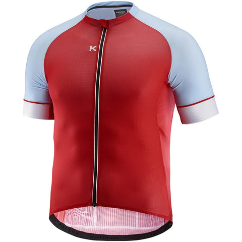 Katusha SUPERLIGHT Cycling Jersey Short Sleeve - Coral Light Blue