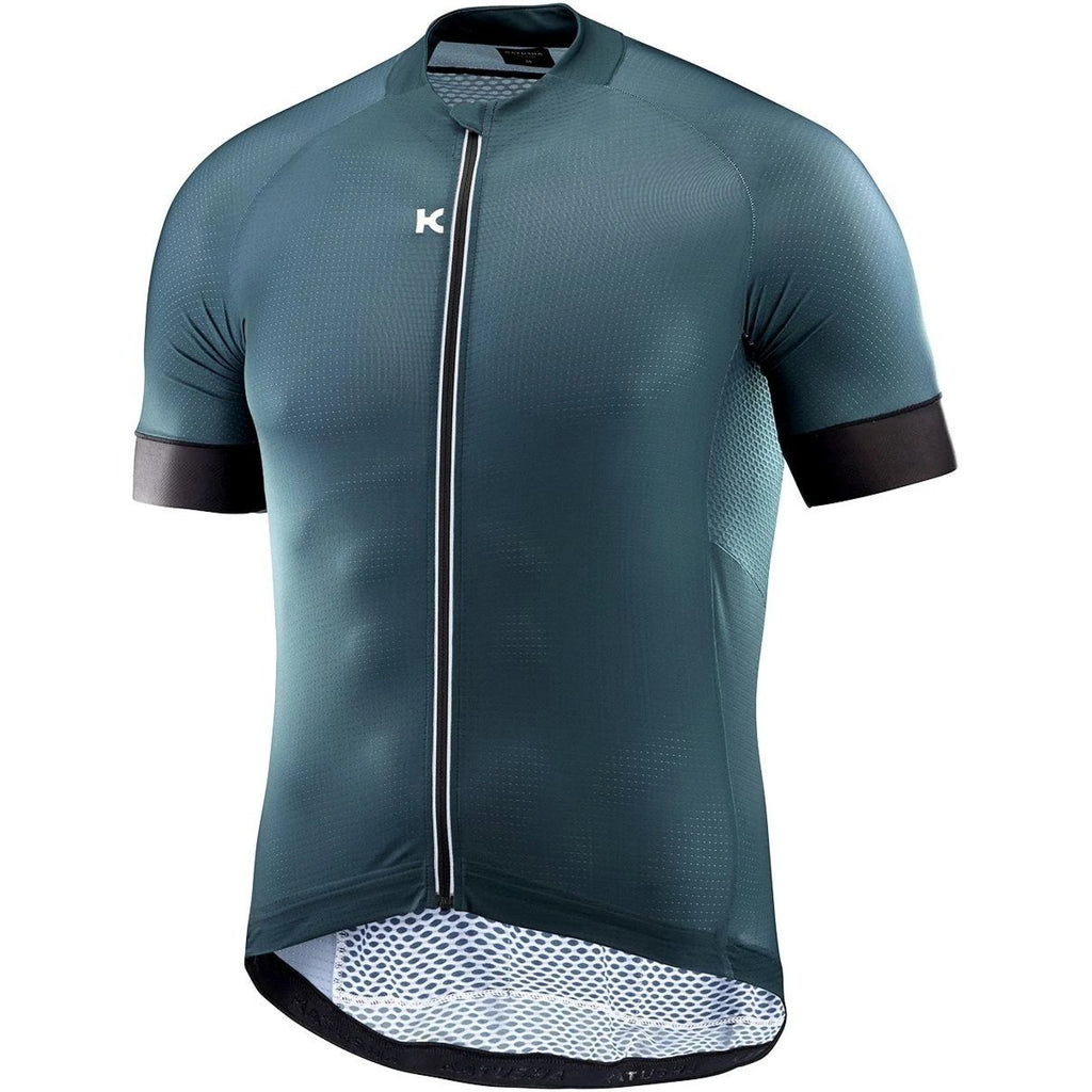 Katusha SUPERLIGHT Cycling Jersey Short Sleeve - Deep Teal Black