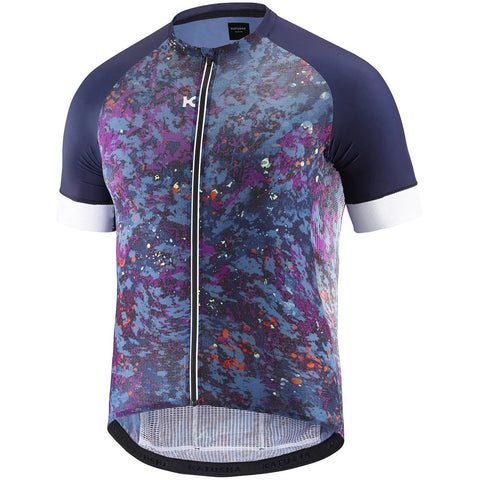 Katusha SUPERLIGHT Cycling Jersey Short Sleeve - Hide & Seek Peacoat Bl