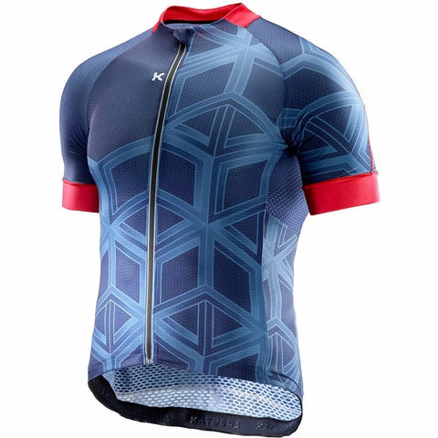Katusha SUPERLIGHT Cycling Jersey Short Sleeve - Peacoat AOP