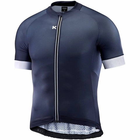 Katusha SUPERLIGHT Cycling Jersey Short Sleeve - Peacoat White