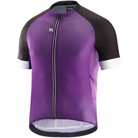Katusha SUPERLIGHT Cycling Jersey Short Sleeve - Purple Black