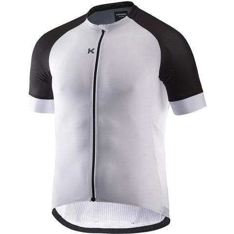Katusha SUPERLIGHT Cycling Jersey Short Sleeve - White Black