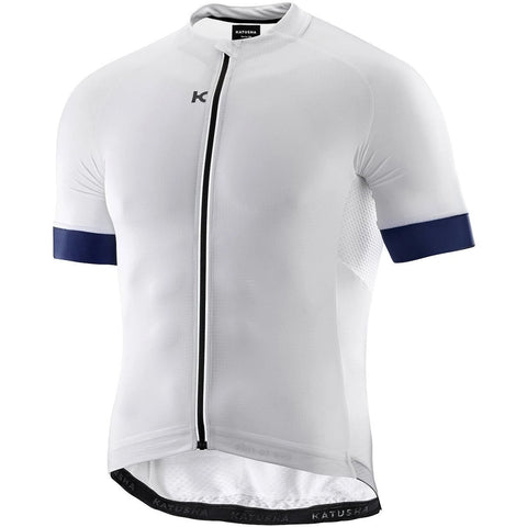 Katusha SUPERLIGHT Cycling Jersey Short Sleeve - White Peacoat