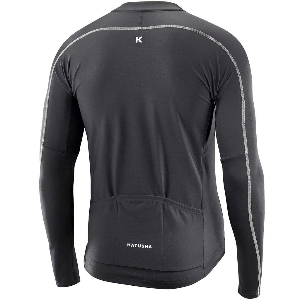 Katusha WARM Cycling Jersey Long Sleeve - Black