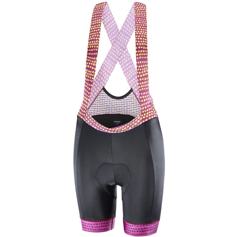 Katusha Women ALLURE Cycling Bib Shorts - Black Native Anemone